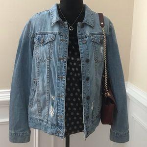 STS blue denim distressed jacket